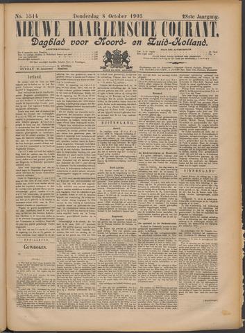 Nieuwe Haarlemsche Courant 1903-10-08