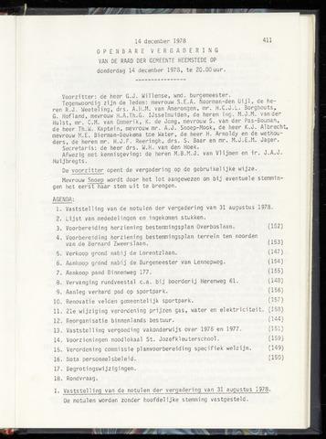Raadsnotulen Heemstede 1978-12-14