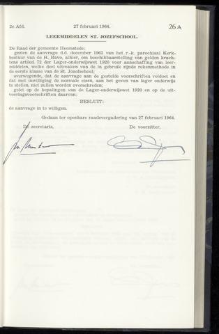 Raadsnotulen Heemstede 1964-02-27