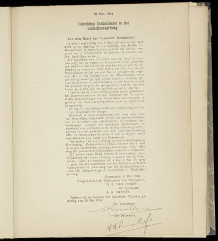 Raadsnotulen Heemstede 1914-05-20