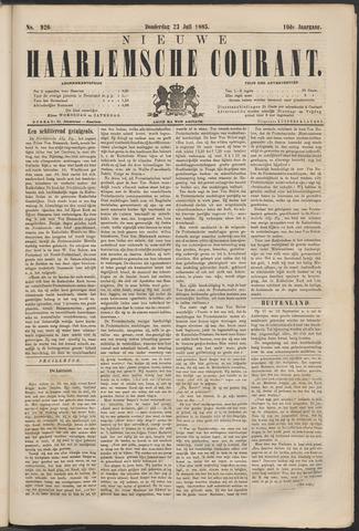 Nieuwe Haarlemsche Courant 1885-07-23