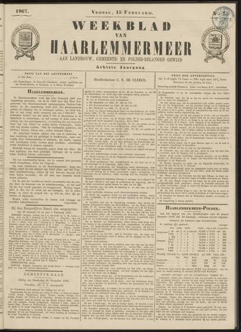 Weekblad van Haarlemmermeer 1867-02-15