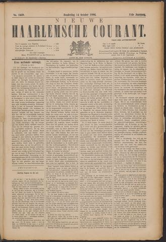 Nieuwe Haarlemsche Courant 1886-10-14