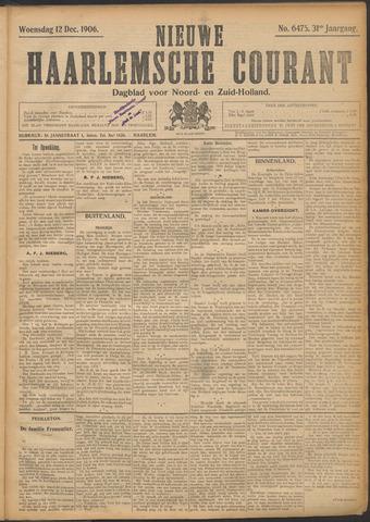 Nieuwe Haarlemsche Courant 1906-12-12