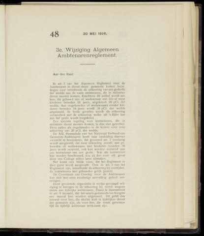Raadsnotulen Heemstede 1926-05-20