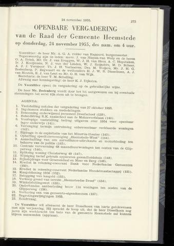Raadsnotulen Heemstede 1955-11-24