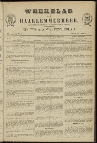 Weekblad van Haarlemmermeer 1885-02-28