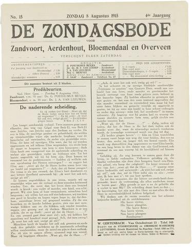 De Zondagsbode voor Zandvoort en Aerdenhout 1915-08-08