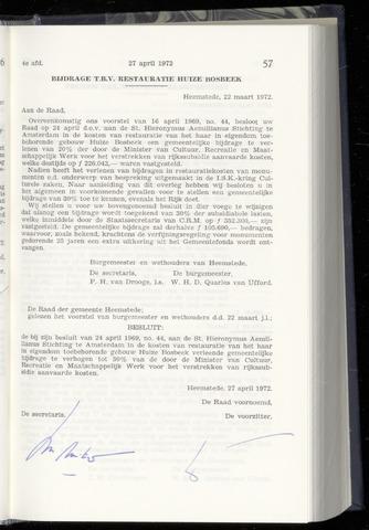 Raadsnotulen Heemstede 1972-04-27