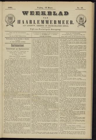Weekblad van Haarlemmermeer 1884-03-14