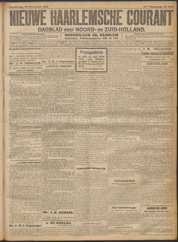 Nieuwe Haarlemsche Courant 1916-11-30