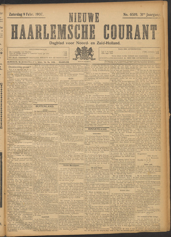Nieuwe Haarlemsche Courant 1907-02-09