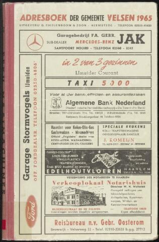 Adresboeken Velsen 1965