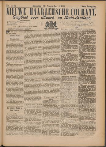 Nieuwe Haarlemsche Courant 1903-11-30