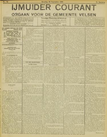IJmuider Courant 1922-09-23