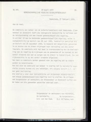Raadsnotulen Heemstede 1979-03-29