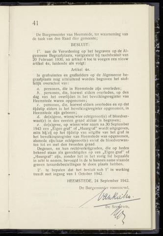 Raadsnotulen Heemstede 1942-09-24