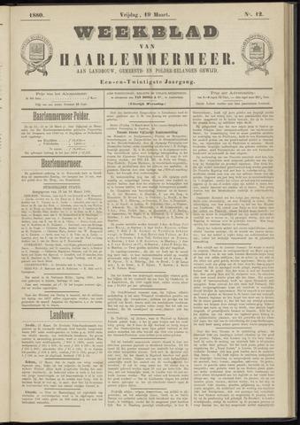 Weekblad van Haarlemmermeer 1880-03-19
