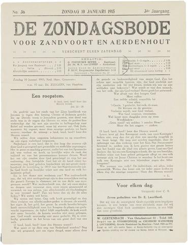 De Zondagsbode voor Zandvoort en Aerdenhout 1915