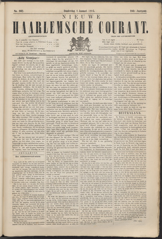 Nieuwe Haarlemsche Courant 1885-01-01