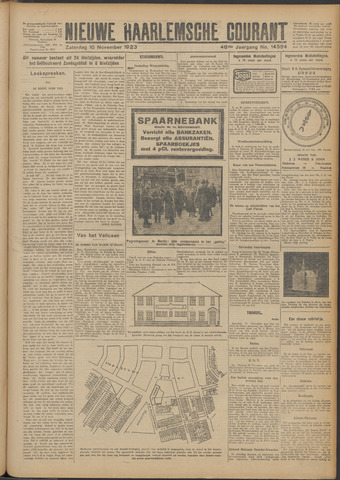 Nieuwe Haarlemsche Courant 1923-11-10