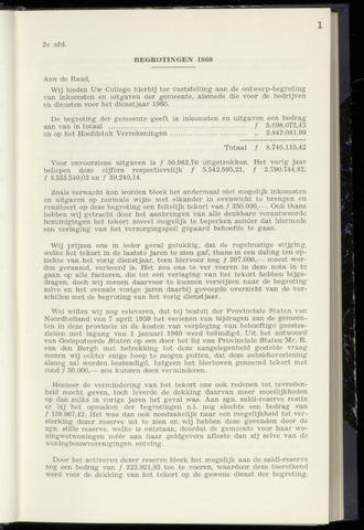 Raadsnotulen Heemstede 1960-01-28