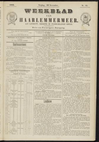 Weekblad van Haarlemmermeer 1882-11-10