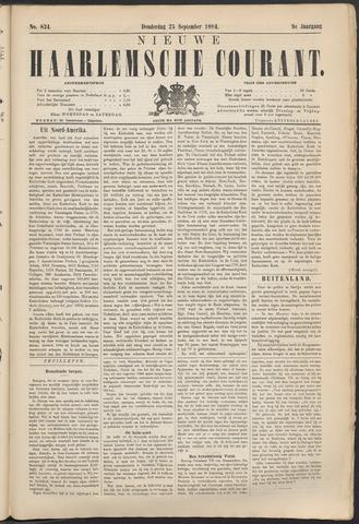 Nieuwe Haarlemsche Courant 1884-09-25