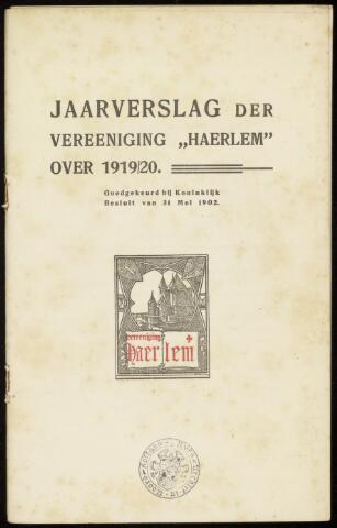 Jaarverslagen en Jaarboeken Vereniging Haerlem 1919