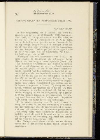 Raadsnotulen Heemstede 1939-12-29