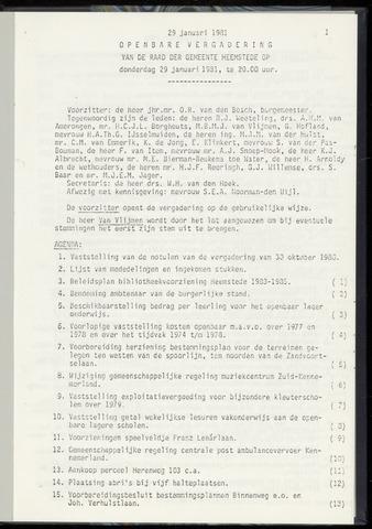 Raadsnotulen Heemstede 1981-01-29