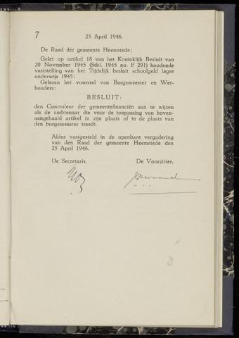 Raadsnotulen Heemstede 1946-04-25