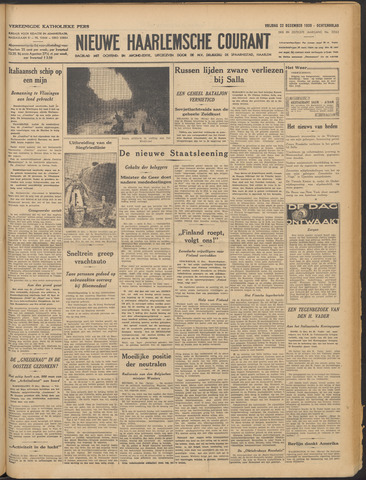 Nieuwe Haarlemsche Courant 1939-12-22