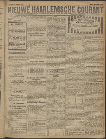 Nieuwe Haarlemsche Courant 1919-04-12