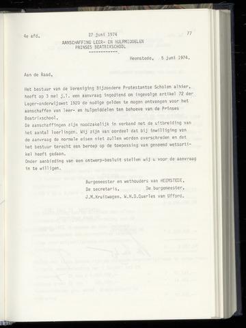 Raadsnotulen Heemstede 1974-06-27
