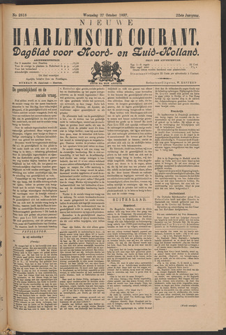 Nieuwe Haarlemsche Courant 1897-10-27
