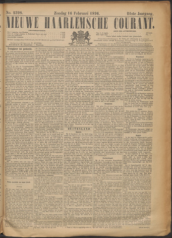 Nieuwe Haarlemsche Courant 1896-02-16