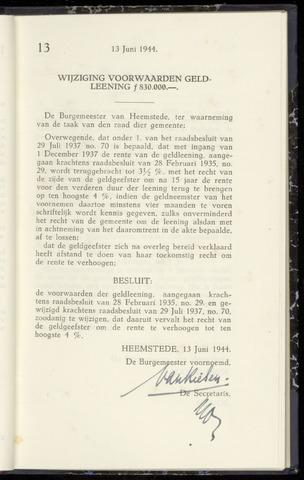 Raadsnotulen Heemstede 1944-06-13