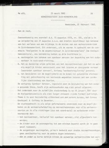 Raadsnotulen Heemstede 1982-03-25
