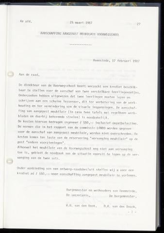 Raadsnotulen Heemstede 1987-03-26