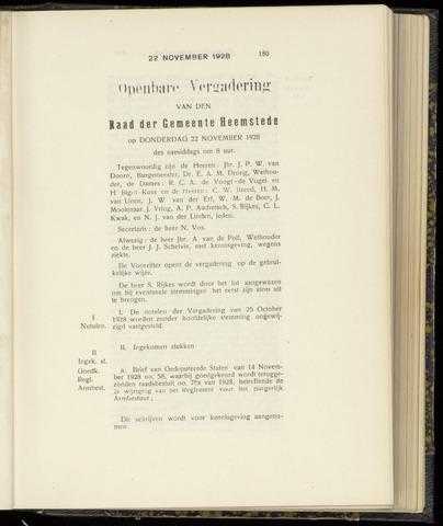 Raadsnotulen Heemstede 1928-11-22