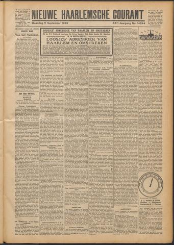 Nieuwe Haarlemsche Courant 1922-09-11