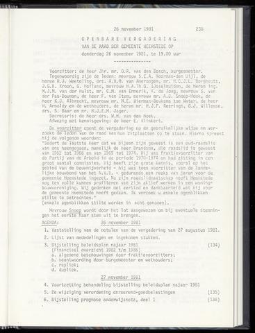 Raadsnotulen Heemstede 1981-11-26