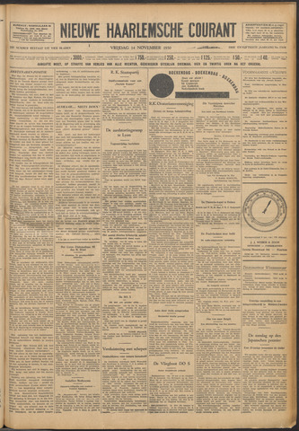 Nieuwe Haarlemsche Courant 1930-11-14