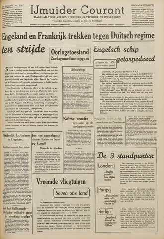 IJmuider Courant 1939-09-04