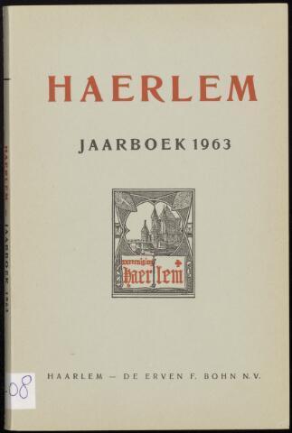 Jaarverslagen en Jaarboeken Vereniging Haerlem 1963