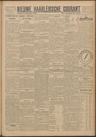 Nieuwe Haarlemsche Courant 1923-09-11