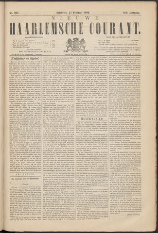 Nieuwe Haarlemsche Courant 1886-02-25