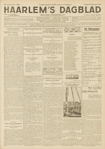 Haarlem's Dagblad 1935-09-27