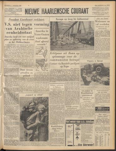 Nieuwe Haarlemsche Courant 1958-08-07